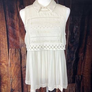 Free People Twice as Nice Twofer Gauzy Tunic